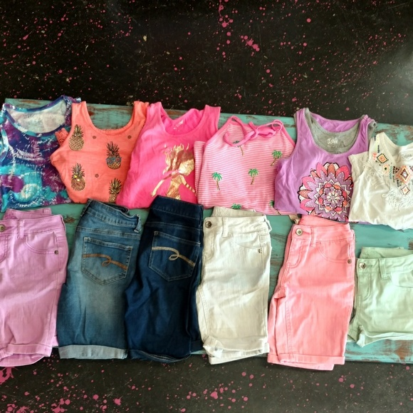 Justice Other - Girls Summer Justice Clothing bundle lot 10/12